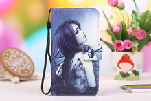 Moda dos desenhos animados pintura PU Leather Wallet fique virar capa do telefone para Alcatel OneTouch Pop 4S caso(China)