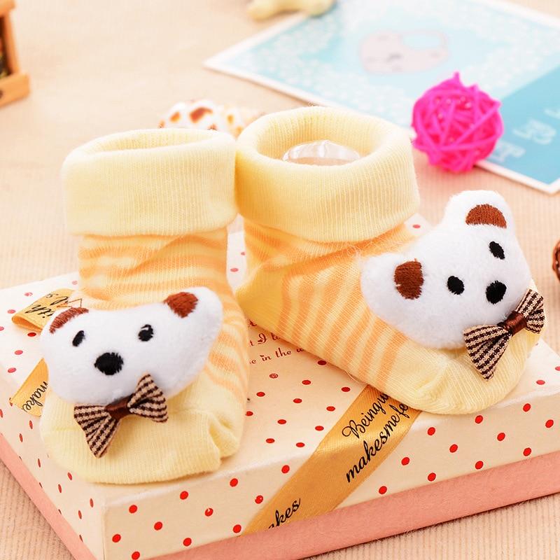 Baby Socks Rubber Anti Slip Floor Cartoon Kids Toddlers Autumn Spring Fashion Animal Newborn Cute 0-24 Month