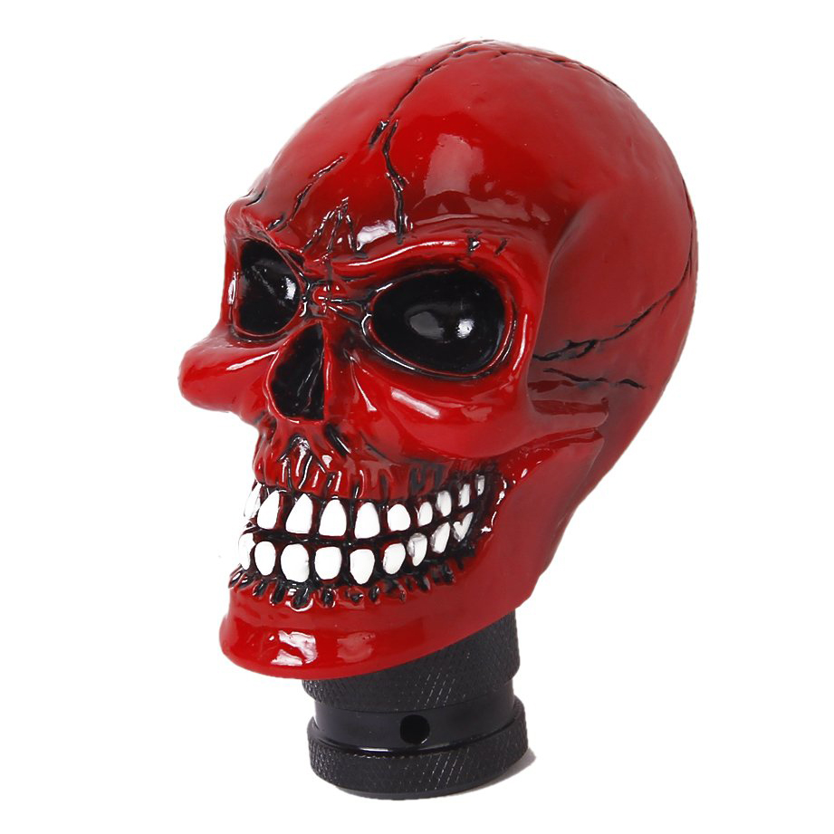 Auto Red Resin Skull Universal Car Truck Manual Gear Shift