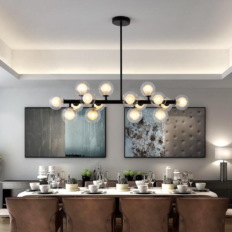 16 25 Heads Postmodern Art Glass Ball Led Chandelier Creative Egg Shape Dinder Living Room Cafe