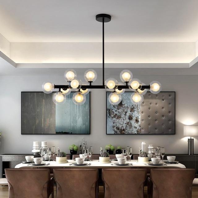 16/25 Heads Postmodern Art Glass Ball Led Chandelier Creative Egg Shape Dinder Living Room Cafe Hanging Lights Free Shipping