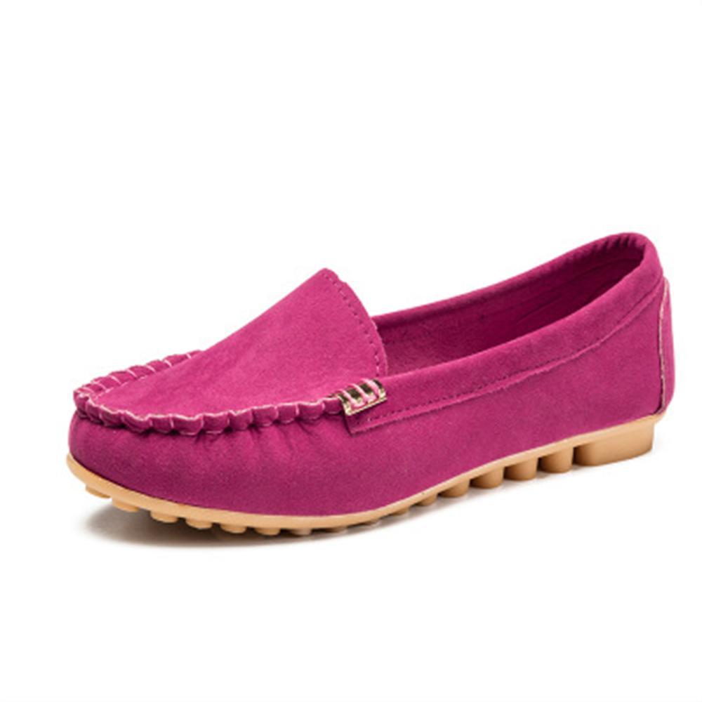 2018 new Spring and autumn Woman Flats New Fashion Pure Color Wild Concise Flat Casual Shoes Round Toe Comfortable Female Shoes asumer 2018 fashion spring autumn shoes woman round toe casual flat platform genuine leather shoes comfortable women flats