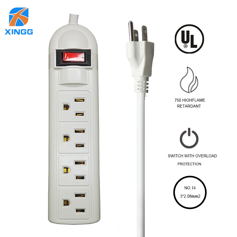 UL Certification US Plug 3 4 6 AC Hole Extension Cord 1 8M Power Strip Overload Protection 1875W 15A AC Outlets Extension Socket in Extension Socket from Consumer Electronics