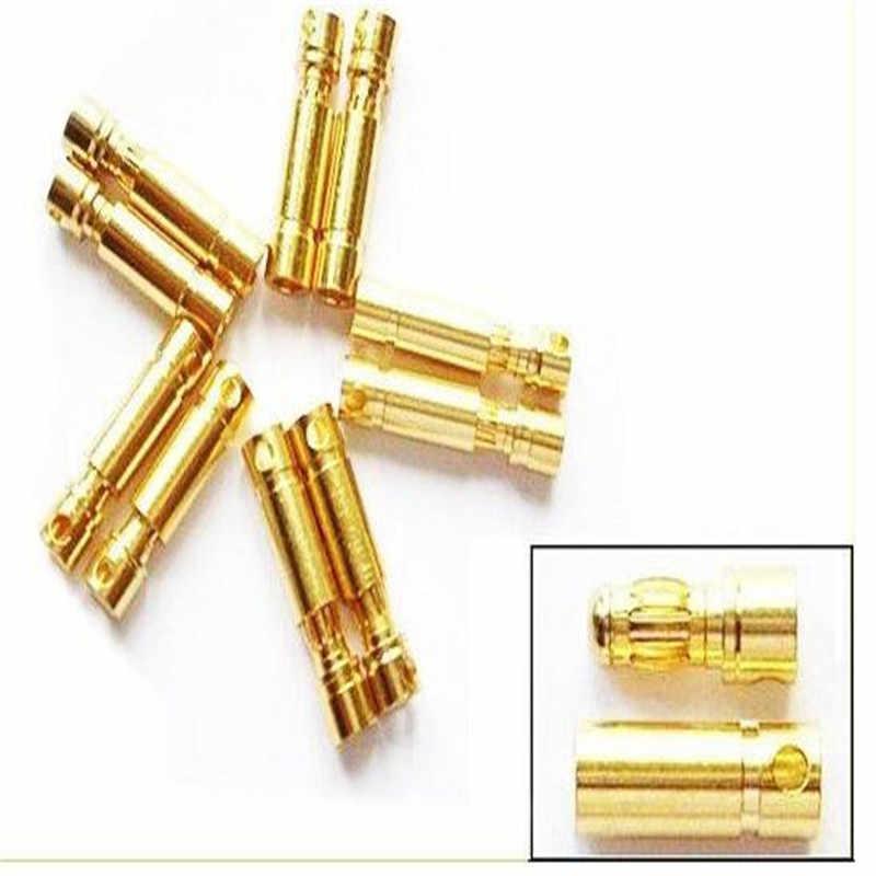 20 пар/компл. 2 мм 3,5 мм 4 мм золото типа Пуля банан разъем для ESC Батарея мотор