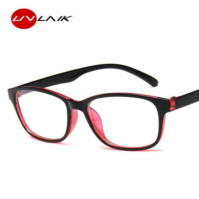 6766c49e60 UVLAIK Optical Glasses Frame Women Men Clear Lens Eyeglasses PC Transparent  Spectacles Eye Glasses Frames for