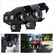 รถจักรยานยนต์Pitbikeไฟหน้าLEDหมอกโคมไฟSpotlight SpotlightสำหรับKawasaki NINJA 250 SUZUKI RM85 RM125 250