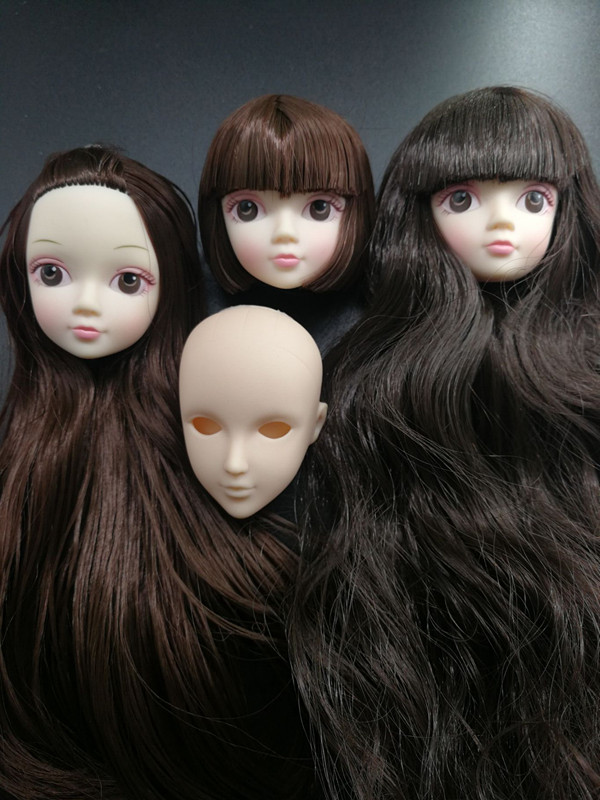 2pcs Soft Practice Makeup Doll Heads For  Doll For 1//6 Doll/'s SL