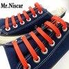 Mr Niscar 1Set 12Pcs Creative Design Unisex Women Men Athletic Running No Tie Shoelaces Red Elastic