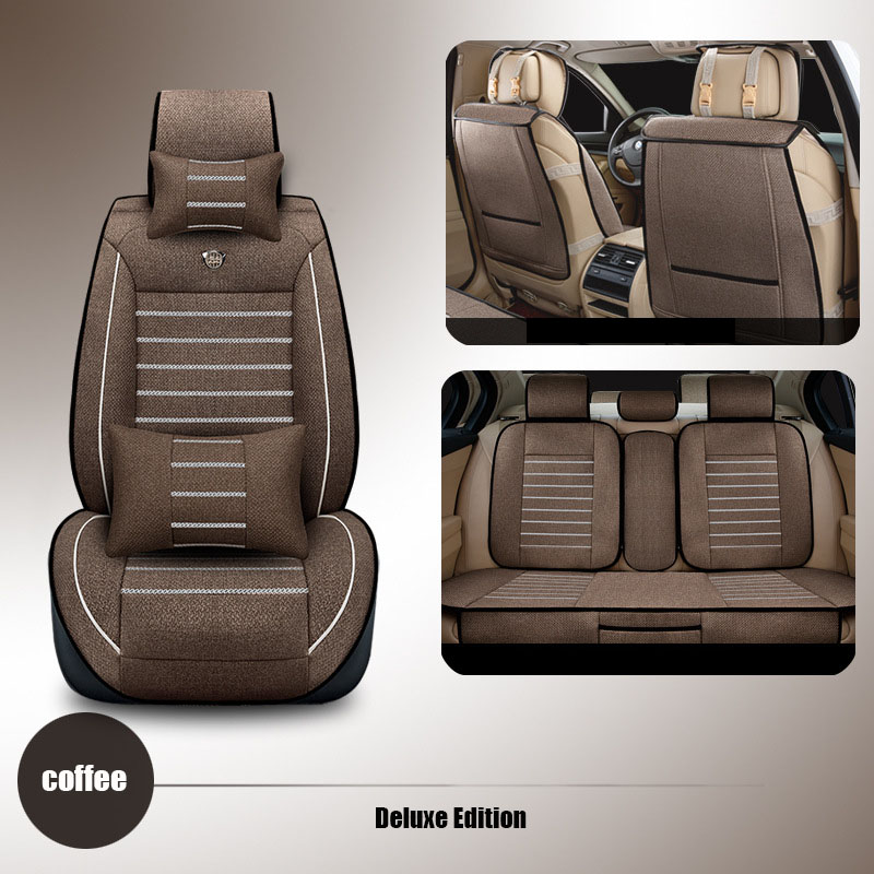 High quality linen Universal car seat covers for subaru forester BRZ Outback Tribeca heritage impreza car accessories styling high quality car seat covers for lifan x60 x50 320 330 520 620 630 720 black red beige gray purple car accessories auto styling