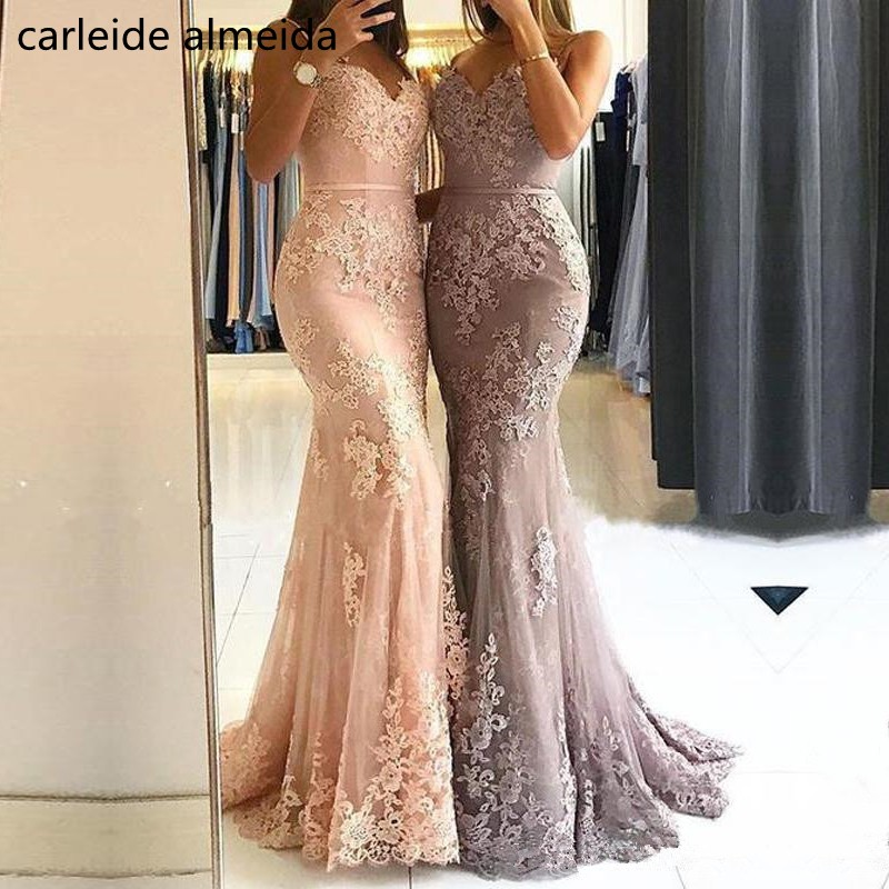 Robe de soiree Spaghetti Straps Lace   Evening     Dress   with Beads Mermaid Long   Dresses     Evening   Sweep Train   Evening   Gown
