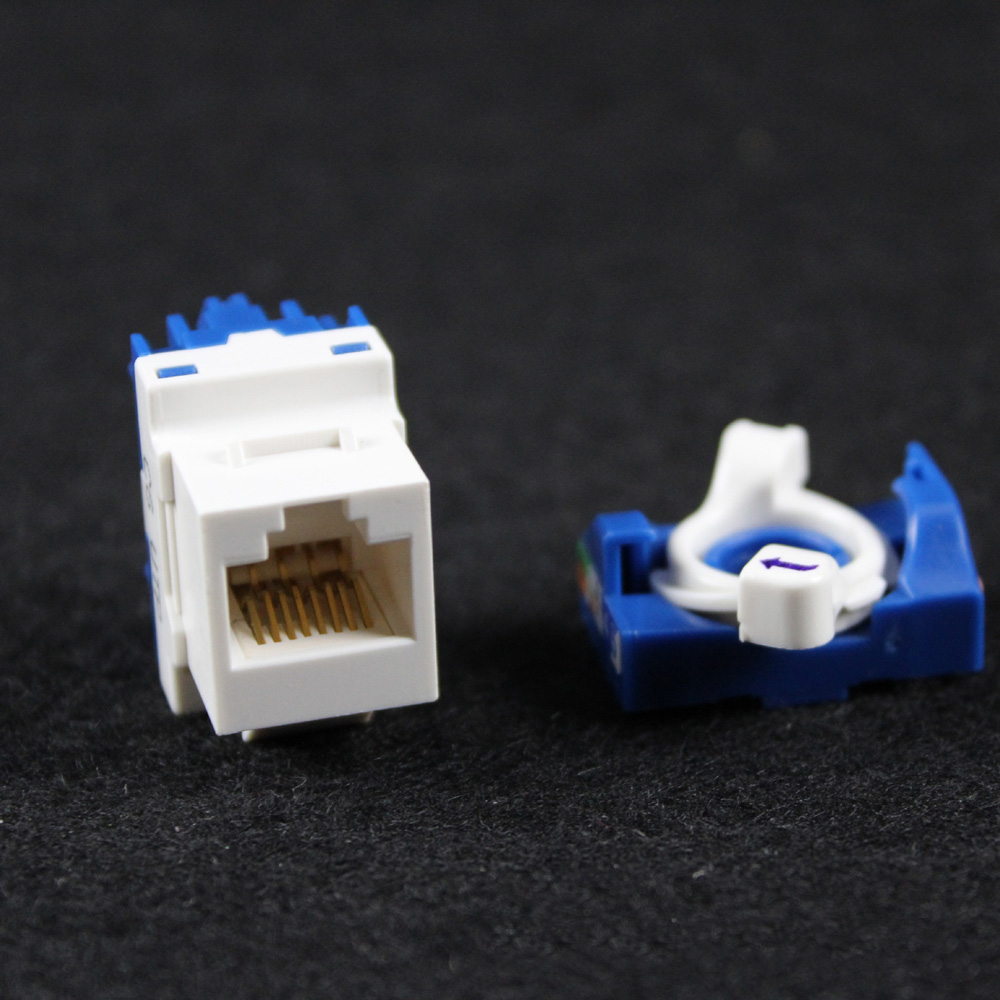 Rj45 Cat5e Cat6 Utp Keystone Female Jack Connector Adapter For Wall Ethernet Wiring Network Module Rotary Twist Turn Tool Free Information Socket