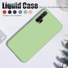 Honor20 Original Case for Huawei Honor 20 Pro Silicone Liquid Soft Case Hawei Honor 20 Honer 20Pro 2 0 Honor20 Phone Cases Cover(China)