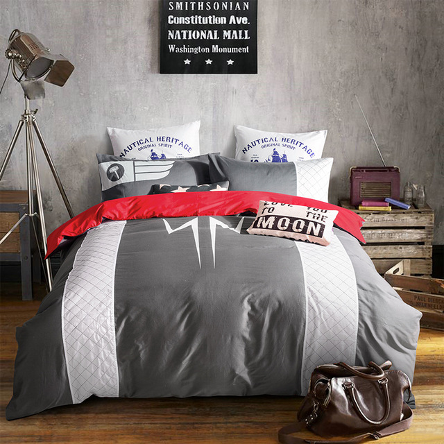 god of thunder super heroes noctilucence bedding sets thor movie donna quilt cover set parure couverture