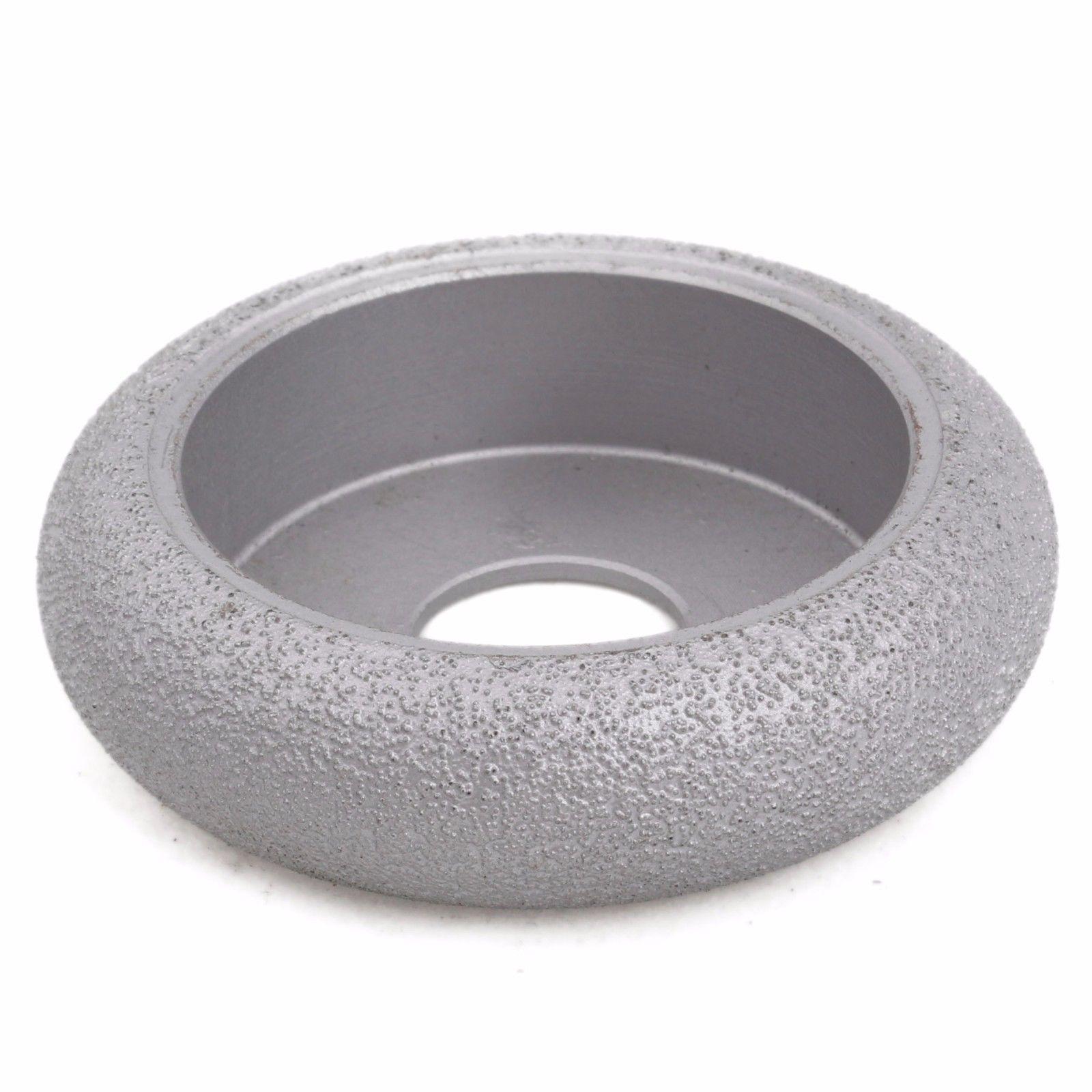 3 inch Grit 60 Width 25 mm Diamond Grinding Wheel Convex Curve BRAZED for Stone ILOVETOOL 6 inch lapidary concave arc diamond coated grinding wheel grind spherical 6 mm ilovetool