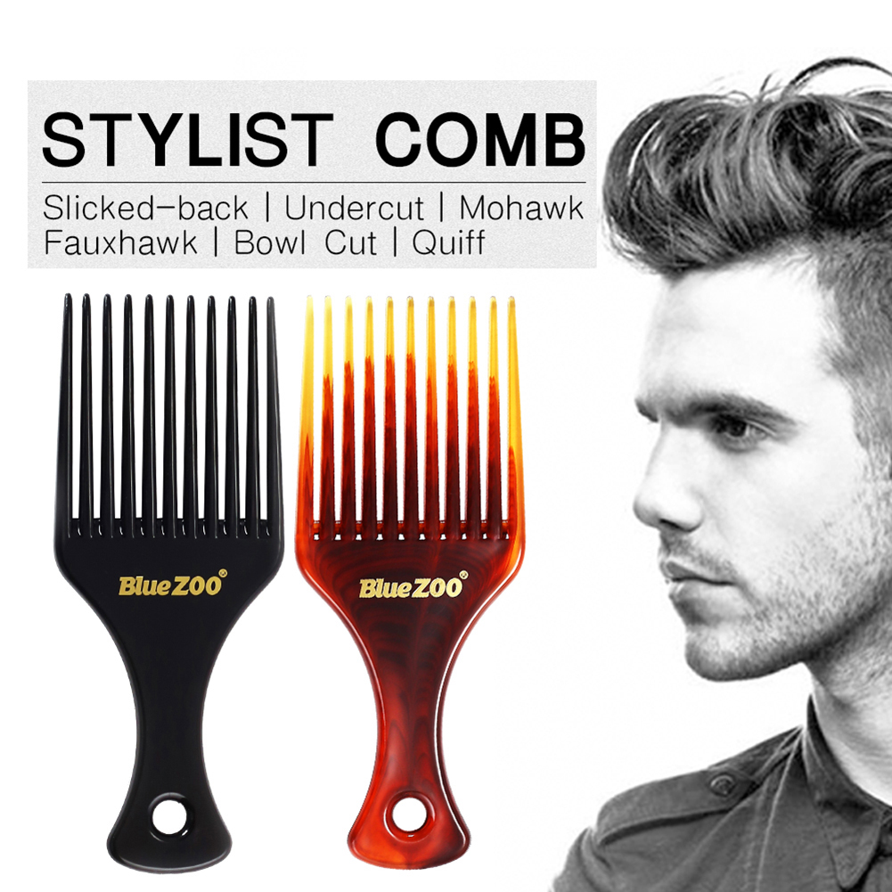 1pcs Portable Comb Hair Brush Insert Afro Hair Pick Comb Hair Combs Oil Slick Cool Mans Styling HairBrush Hairdressing Accessory