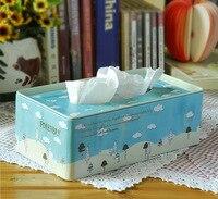Zakka grocery Mori small fresh iron box box paper towel smoke tin