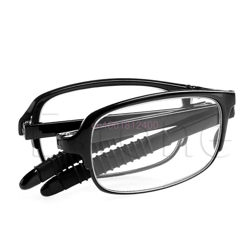 Óculos de leitura Unisex Foldable Reading Glasses Folded Pendurado +1 +1.5 +2 +2.5 +3 +3.5 +4.0