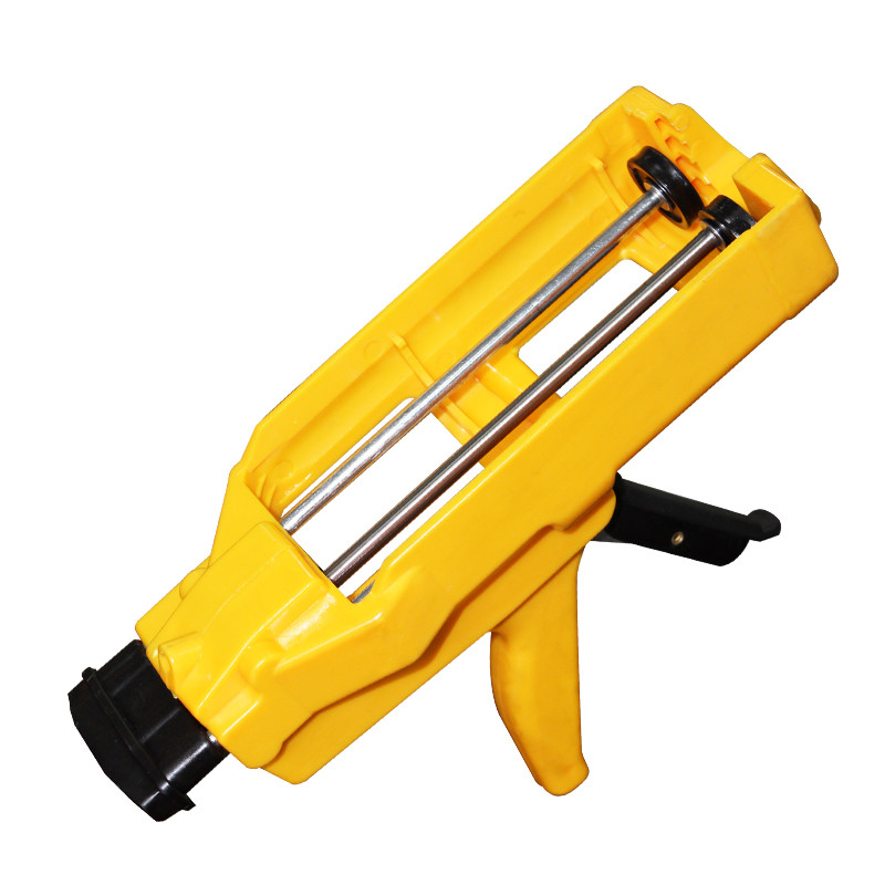 1 pieza sellador unids de agente de llenado de azulejos amarillos doble tubo pistola de silicona herramientas de construcción de Metal