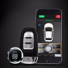 Mobile Phone Automatically Induction car alarm system Android/Iso System Keyless Remote PKE Engine Strat Car Central Lock