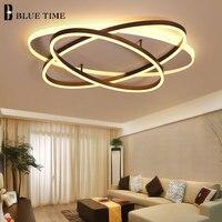 Кольца светила современный светодио дный освещение потолка для Гостиная Спальня потолок Luminarias Para Sala элегантные лампы FixtureAC110V220V