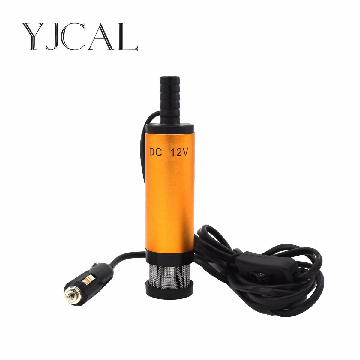 Vehicular Cigarette Plug Submersible Pump Diameter 38MM DC 12V/24V Motor Suction Water Oil Pump Stainless Steel Band Strainer