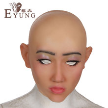 ФОТО eyung goddess shivell top quality masquerade for crossdresser silicone female masks, realistic mask for halloween,drag queen