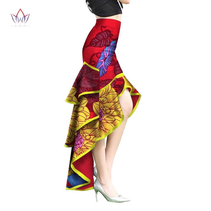 2019 Pattern African Print Ankara Mermaid Skirt Elegant Style Long Skirt Customized Unique African Ankara Ruffles Skirt WY2273