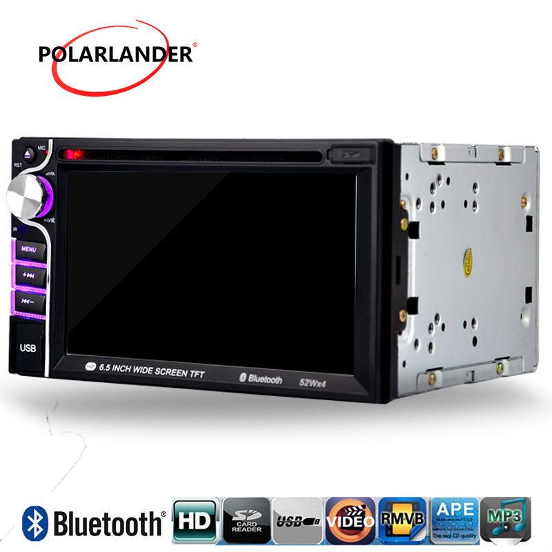 все цены на Car DVD MP4 player 2 din 6.5 inch touch Screen Car Video Player 7 languages RDS/FM/AM/USB/SD bluetooth for reversing camera