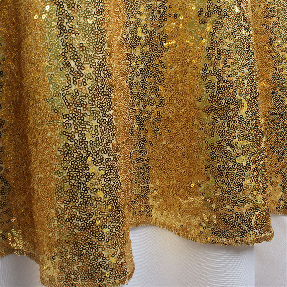 Gold Sequin Tablecloth 50 Inches Round Tablecloth Solid Table Cloth Table  Covers For Wedding Party Sequin Table Overlay In Tablecloths From Home U0026  Garden On ...