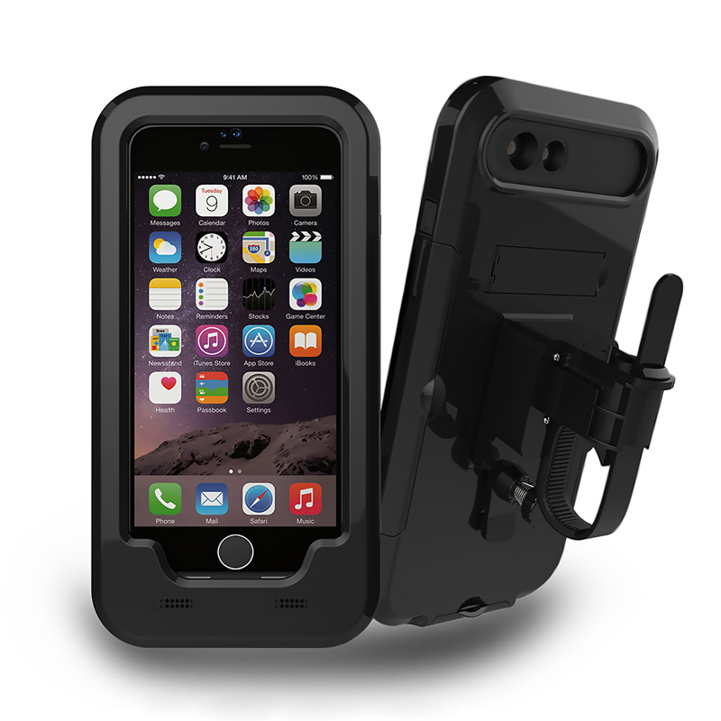 imágenes para Bicicleta de La motocicleta Soporte para Teléfono Soporte Para iPhone7 7 Plus/6 s Plus/5S SÍ GPS Deporte Impermeable protectora Caso de la cubierta Del sostenedor de la bici