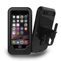 Motocykl Rowerów Phone Holder Wsparcie Dla iPhone7 7 Plus/6 s Plus/5S SE GPS Sport ochronne Wodoodporne pokrywa Case uchwyt na rower