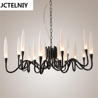 New Luxury Italian Chandeliers Sitting Room The Bedroom Of White Black Art Exhibition Hall Lamp Villa