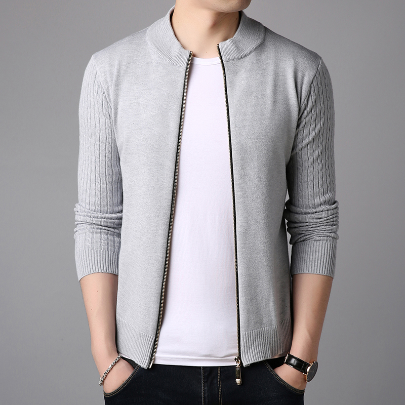 Loldeal Autumn Stand Collar Cardigan Men's Sweater Coat Autumn Winter Hot Selling Fashion Casual Warm Nice Sweater