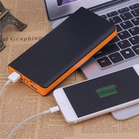 Wopow 15000 Mah Power Bank 4 Ports External PowerBank With LED Flashlight Large Capacity Power Portable