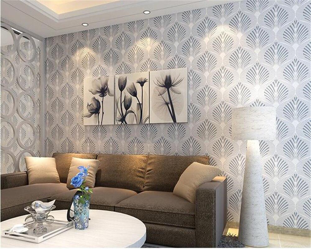 Beibehang moderne non-tissé papier peint simple et chaud chambre géométrique canapé fond de télévision 3d papier peint papel de parede