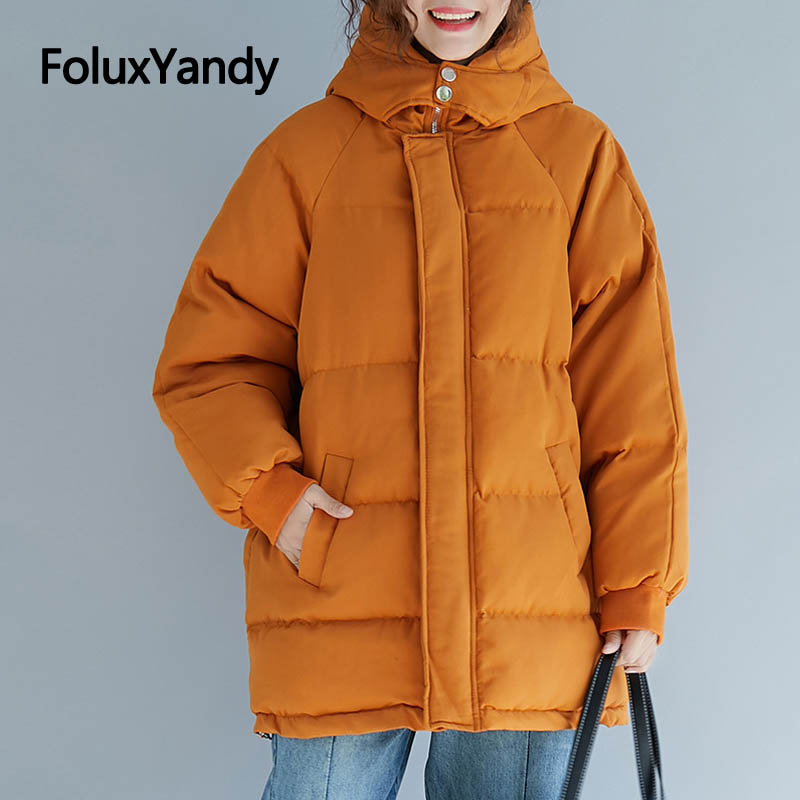 Winter Coat Women   Parka   Plus Size 4XL 5XL 6XL Casual Loose Warm Hooded Thick   Parkas   Outerwear NQYL52