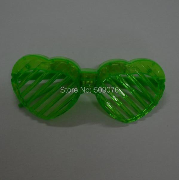 24 шт./лот светодио дный мигающий свет в форме сердца очки светодио дный затворные очки маска для вечерние поставки