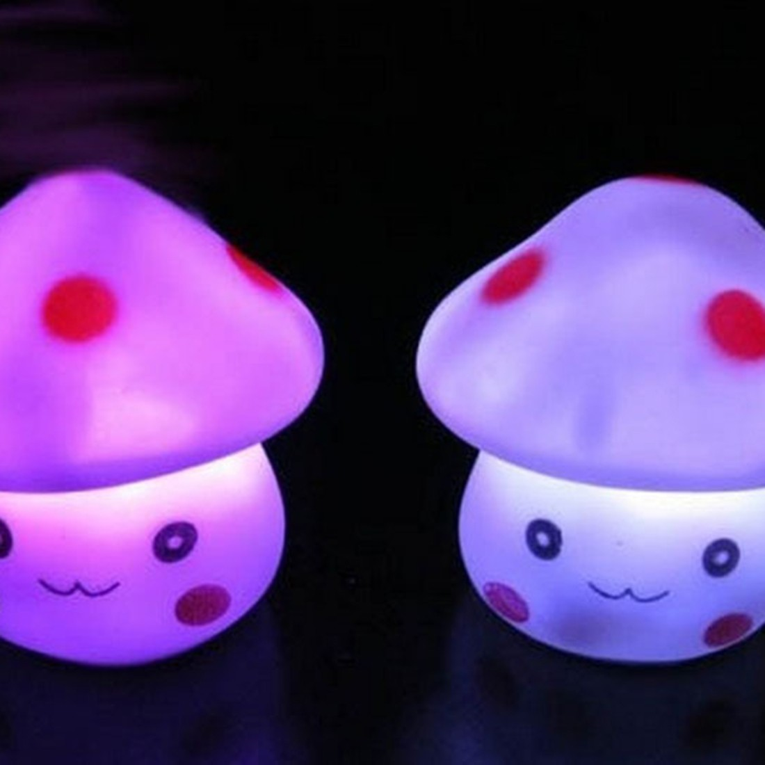 LED Novelty Lamp Color Changing Night Romantic Mushroom Light Cute Lamp Decor For Party Bedroom Decor Wedding Christmas Gifts
