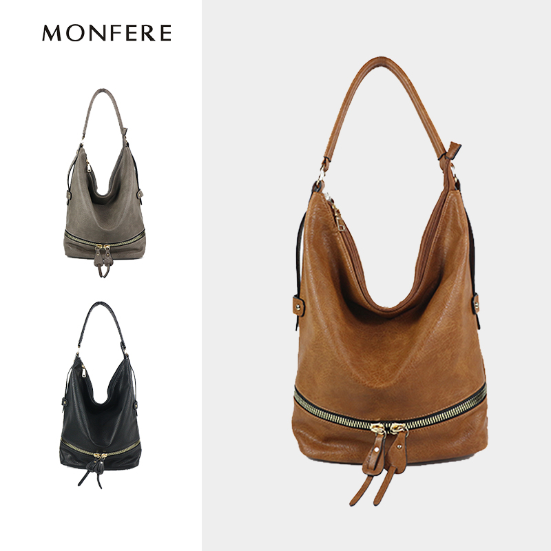 monfere grande hobo casual fashion Decoration : Zipper Pocket