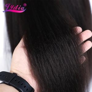 Image 4 - Lydia peruca cabelo sintético, cabelo sintético longo, para mulheres afroamericanas, natureza preta 18 22 Polegada, kanekalon afro