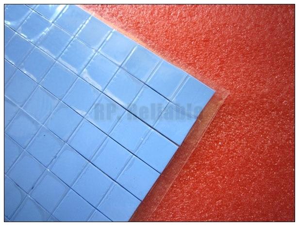 Haben Sie Einen Fragenden Verstand 1500x 15mm * 15mm * 0,5mm Weiches Silikon-thermische Auflagen Matte Für Pc Laptop Vga Gpu Chipset Ic Kühlkörper Wärmeleitende Blau