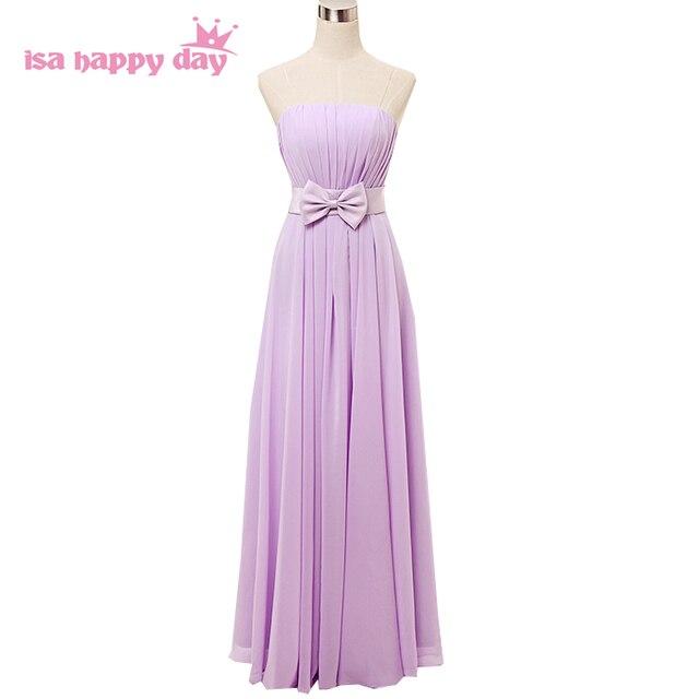 34eb631a4fc Lila formale lavendel modest mädchen chiffon brautjungfern kleid elegante  brautjungfer lange kleider für hochzeit gäste H2742