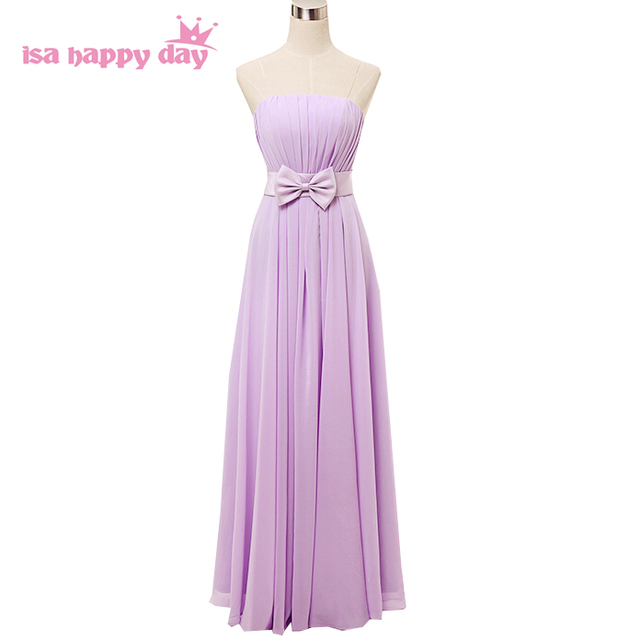 Lila formales lavendel modest mädchen chiffon brautjungfern kleid ...