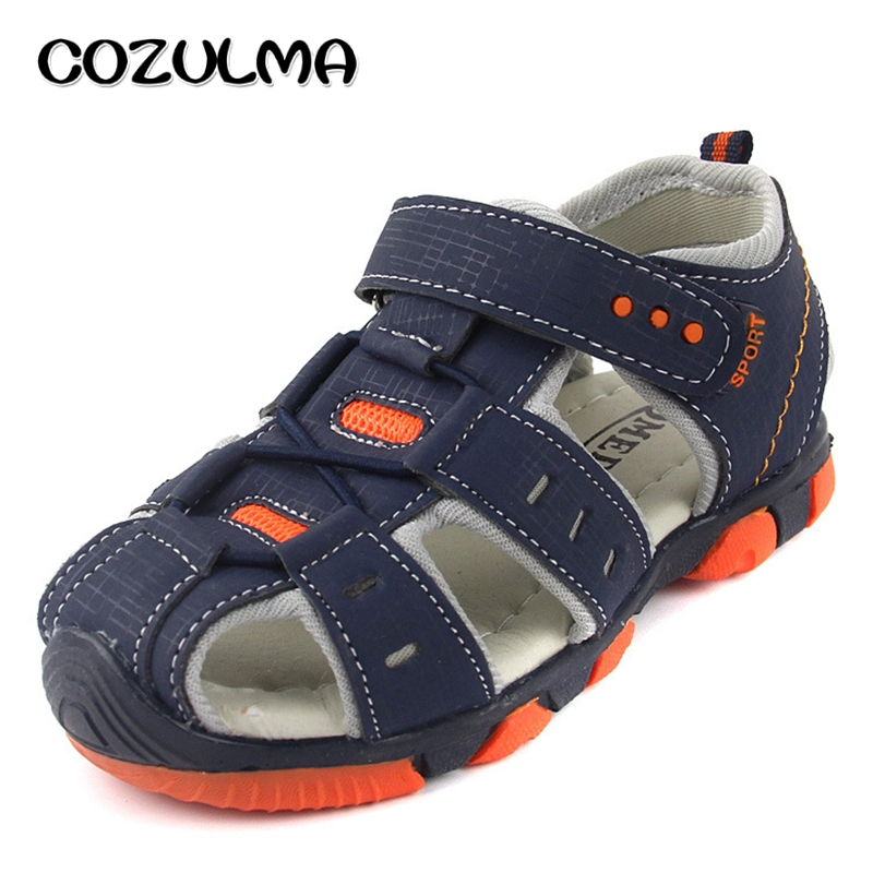 COZULMA Summer Boys Sandals Closed Toe Children Shoes Casual Sports Sandals Sneakers Kids Anti-Slip Hollow Air Shoes 6 Colors mmnun 2017 boys sandals genuine leather children sandals closed toe sandals for little and big sport kids summer shoes size26 31