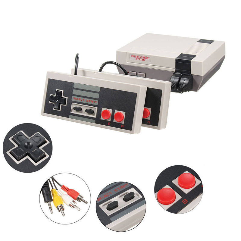 COOLBABY AV Out Retro Classic handheld game player Family TV video game console Childhood Built-in 500 Games