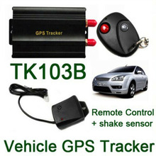 цена на TK103B GPS Tracker Car Locator Realtime Tracking GPS/GMS SIM SD Card Usb GPS Car Tracker Remote Control and Shake Sensor Device