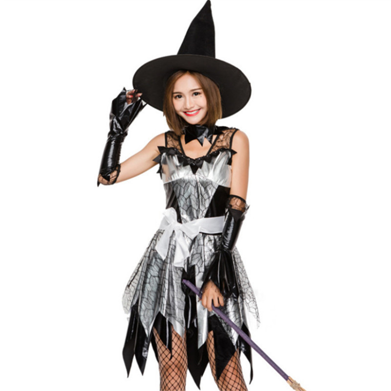 high quality Deluxe Adult  Witch Costume Magic Moment clothing Sexy Adult Witch Fancy Cosplay Dress Halloween Costume for Women