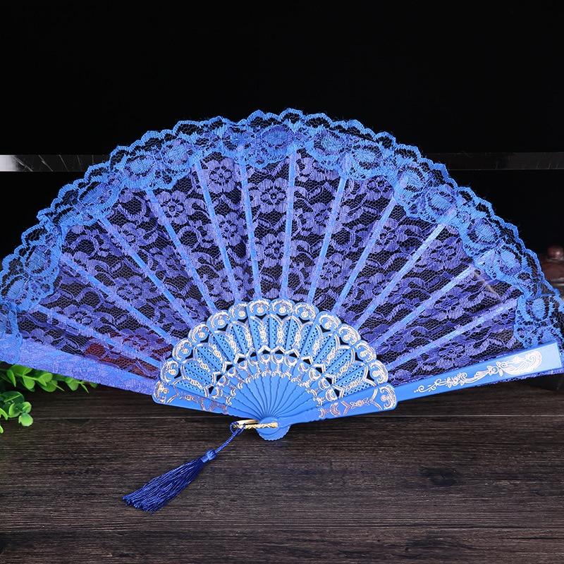 Damen Klappspitze Hand Fan Großhandel Personalisierte Fans der Alten - Wohnkultur - Foto 4
