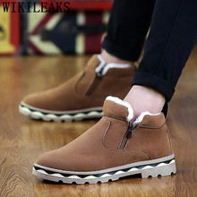 snow boots men brand shoes mens chelsea boots winter shoes men ankle boots fashion shoes tenis casual masculino erkek ayakkabi(China)