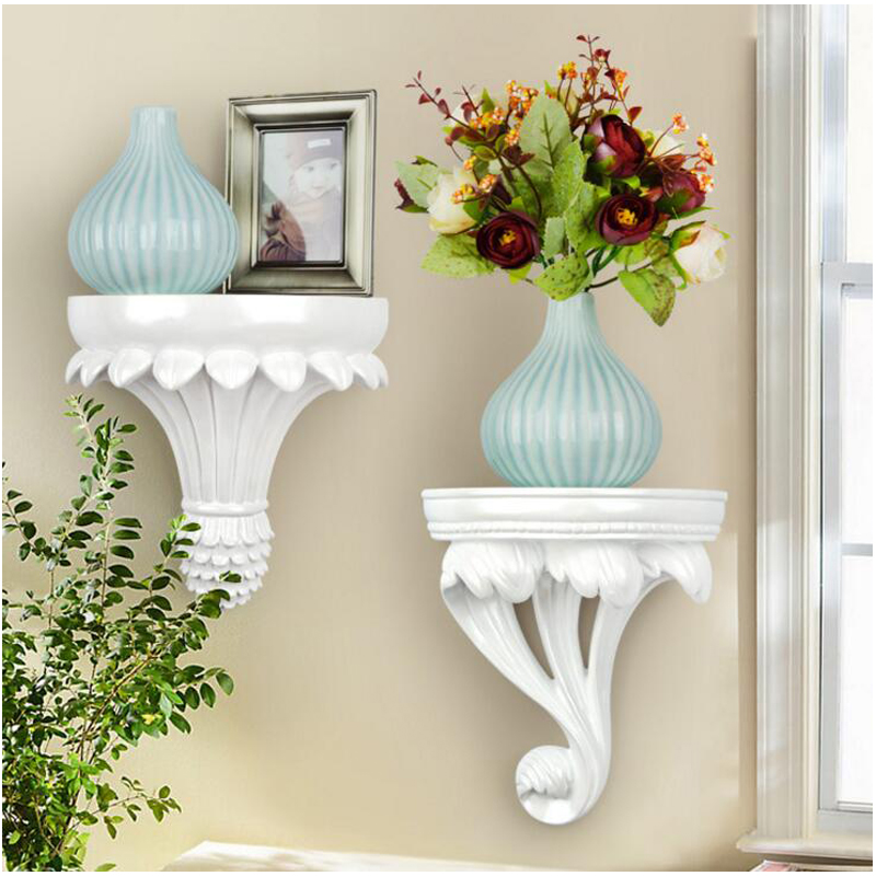 European Home Decorative Wall Hanging Resin Shelf Vase 3D ...